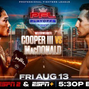 Видео боя Рори МакДональд – Рэй Купер III PFL 7: 2021 Playoffs