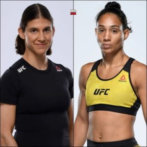Видео боя Роксанн Модаффери — Таила Сантос UFC 266