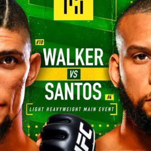Прямая трансляция UFC Fight Night 193: Тиаго Сантос — Джонни Уокер